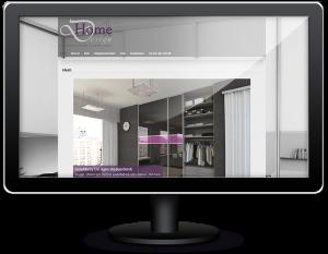 Hemsida till inredningsföretaget Home Design One