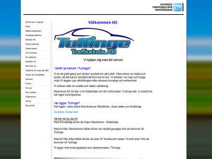 Tullinge Trafikskolas gamla hemsida