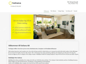 Hemsida till Soliana AB