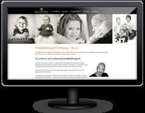 hemsida till fotograf Per Stålfors